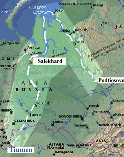Yenisei River Map The Yenisei River